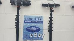 18ft HighRise Water Fed Poles 60% carbon fibre. Including attachments