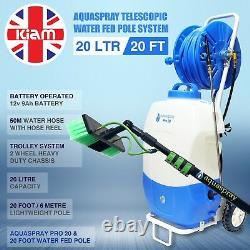 20' Window cleaning Pole & 20L pure water tank trolley BUSINESS OPPORTUNITY