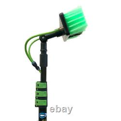 20ft Telescopic Water Fed Pole Lightweight Window Cleaning Water Sprayer Home