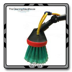 20ft Water Fed Telescopic Window Cleaning Pole Brush Conservatory Roof Cleaning