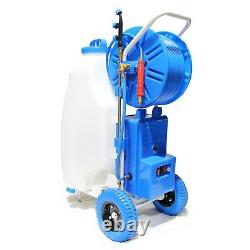 20ft Window Cleaning Telescopic Water Fed Pole + 45L Spray Tank Trolley System