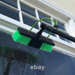 20ft Window Cleaning Telescopic Water Fed Pole Squeegee & 16L Backpack Spray