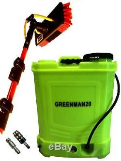 20l Backpack And 30 Ft Bayersan Water Fed Glass Fibre Pole