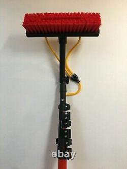 22FT Window Cleaner Brush, WindowithGutter Cleaning Tool Kit, Water Hose/Fed Pole