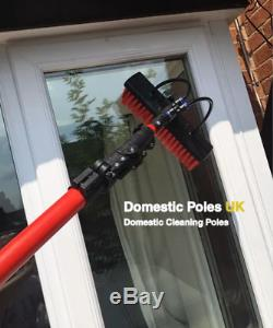 22ft Window Cleaning Brush, Water Fed Pole, Full Kit, Working Reach up to 7M
