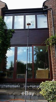 25 Foot Evolution Fibre Glass Water Fed Pole V3, Hose & Connector + Free UK Del