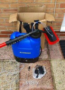 25ft Window Cleaning Water Fed Pole. Hose & Brush Head NEW BlueMan 20 Backpack