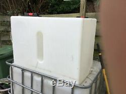 2 x 210 litre Pure Water Tanks WFP, 1 with 3KW immersion Window Cleaning