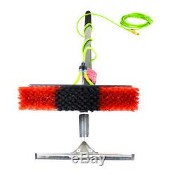 30L Water Fed Trolley System Window Cleaning Brush Solar Panel Washing Tool Car