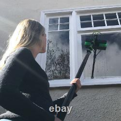 30ft Window Cleaning Pole Telescopic Water Fed Lightweight Squeegee head brush