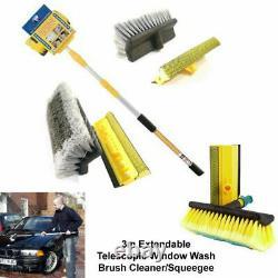 3m 9f Extending Telescopic Water Fed Home Window Car Van Bus Wash Brush Cleaner