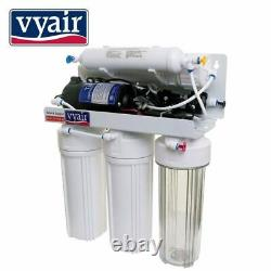 5 Stage Pumped Reverse Osmosis 50 GPD Drinking Water Filter System + Filters