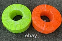 6mm ID x 100mtr coil Set Hi-Vis Yellow and Orange Water Fed Pole Hose WFP