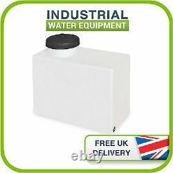 80L Litre Upright Plastic Water Valeting Window Cleaning Storage Tank c/w Neck