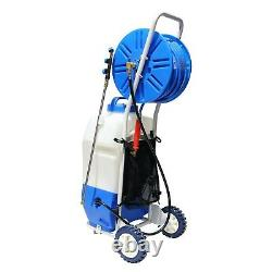 Aquaspray Pro 20L Window Cleaning Water Spray Tank 50m Hose Reel Battery Power