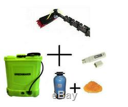 Complete WFP Window Cleaning System GreenMan Backpack & Pure water Ready to use