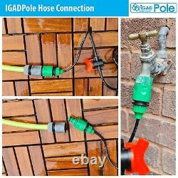 Extension Cleaning Pole Kit, Water-fed Brush, Cobweb Duster and Clean Cloths