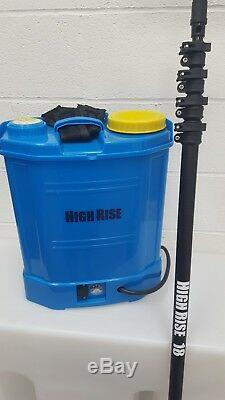 HighRise 20 litre backpack and HighRise 18ft water fed pole