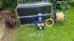 Ionics water fed pole cleaning tank and reels fully working system