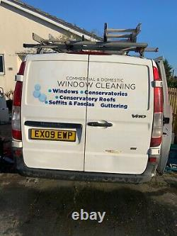 Mercedes Vito 2009 window cleaning van with built-in water fed pole system