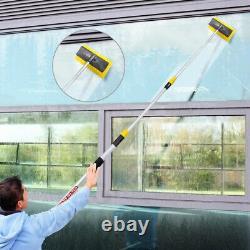 New 3m 9ft Aluminium Telescopic Water Fed Window Car Van Wash Brush Squeegee