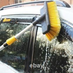 New 3m Aluminium Telescopic Water Fed Window Car Van Wash Brush Squeegee Uk