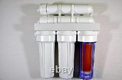 New 4 Stage RO Reverse Osmosis unit& DI chamber 200GPD Window Cleaning Aquarium
