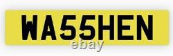 Private number plate WA55 HEN Car Valet Detail Wax Clean Window Cleaner Water