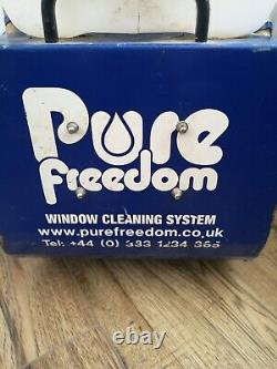 Pure freedom window cleaning trolley and water fed pole