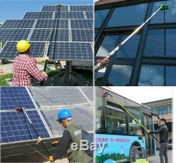 Solar Panel Washing Tool 20ft Telescopic Water Fed Pole Brush kit Window Clean