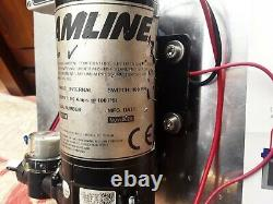 Streamline pump controller and 100psi window cleaning water pump