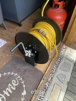Water Fed Pole Hose Reel And 100m Hose