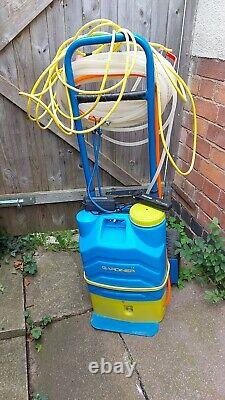 Water Fed Pole Window cleaning Gardiner Backpack with trolley and Ionic Pole