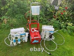 Water Genie window cleaning trolley, Viper 18ft pole, water purification units