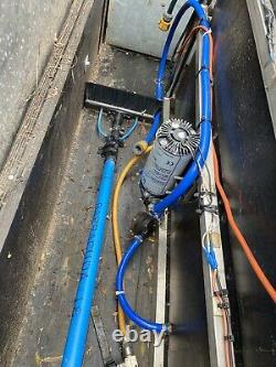 Water fed pole window cleaning system