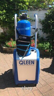 Water fed pole window cleaning trolley system