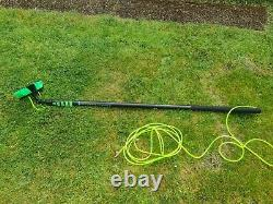 Water fed window cleaning pole with resin tank. Used
