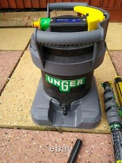 Water fed window cleaning poles and unger ultra filter