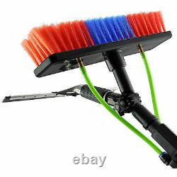 Window Cleaning Pole 20ft & Backpack Water Fed Telescopic Extension Glass Brush
