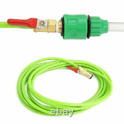 Window Cleaning Pole 30ft Water Fed Glass Telescopic Extendable Brush Extension