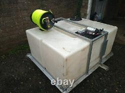 Window Cleaning System Pump Controller Tank Hose Reel 650 liters. Water fed pole