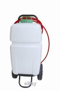 Window cleaning water fed pole crop garden sprayer spraying 35 litre trolley
