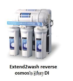 100gpd Pompe De Surpression Du Système D'osmose Inverse Et De L'eau DI Alimentés Nettoyage Des Vitres Poteau