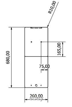 100l Litre Roue Arch Plastique Réservoir D'eau Valeting Fenêtre De Nettoyage Camping