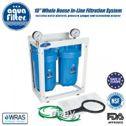 10 Big Blue High Efficiency 2-stage Whole House Water Filter System