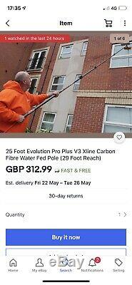 18 Pieds Evolution Pro Plus V3 Xline En Fibre De Carbone Eau Fed Pole Plus Univalves