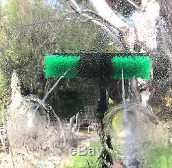 20ft Nettoyage De Vitres Télescopique Eau Fed Pole Raclette 45l Réservoir De Pulvérisation Chariot
