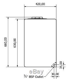 210l Litres Vertical Plastique Réservoir D'eau Valeting Nettoyage De Vitres Camping