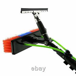 24ft Water Fed Window Cleaning Pole Brush Extendable Télescopique A5157