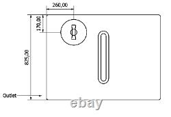 250l Plat Litre Réservoir De Stockage D'eau En Plastique Valeting Fenêtre De Nettoyage Camping